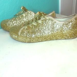 Shoes - Gold Glitter Sneakers